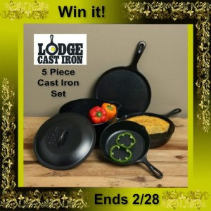 Lodge-5-piece-Cast-Iron-Cookware-Set
